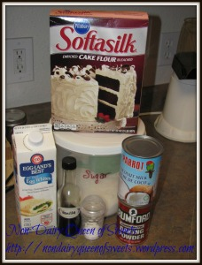 Ingredients for the Cream Cake