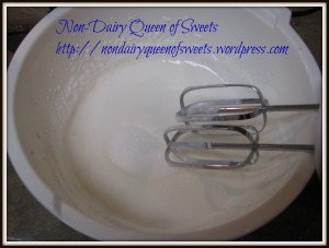 Add sugar a few teaspoons at a time