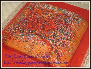 With Cherry Glaze and Sprinkles (I like sprinkles!)