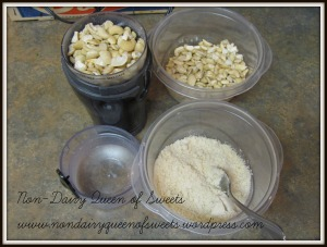 Raw Cashews and Cashew Powder