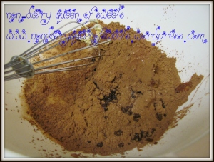 add cocoa powder and extracts