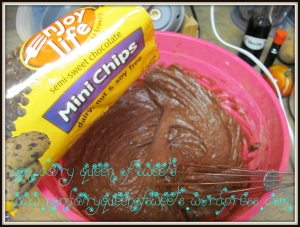Add one bag of non-dairy chocolate chips