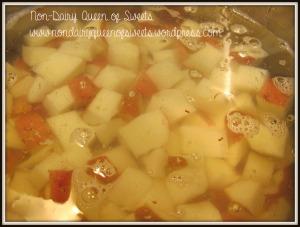 Boil Potatoes until tender but not mushy