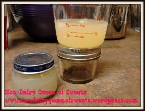 Seal liquid egg whites in glass jars