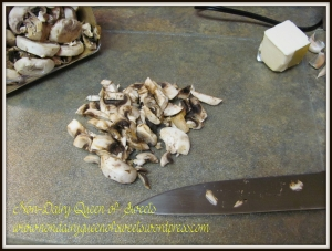Chop mushrooms