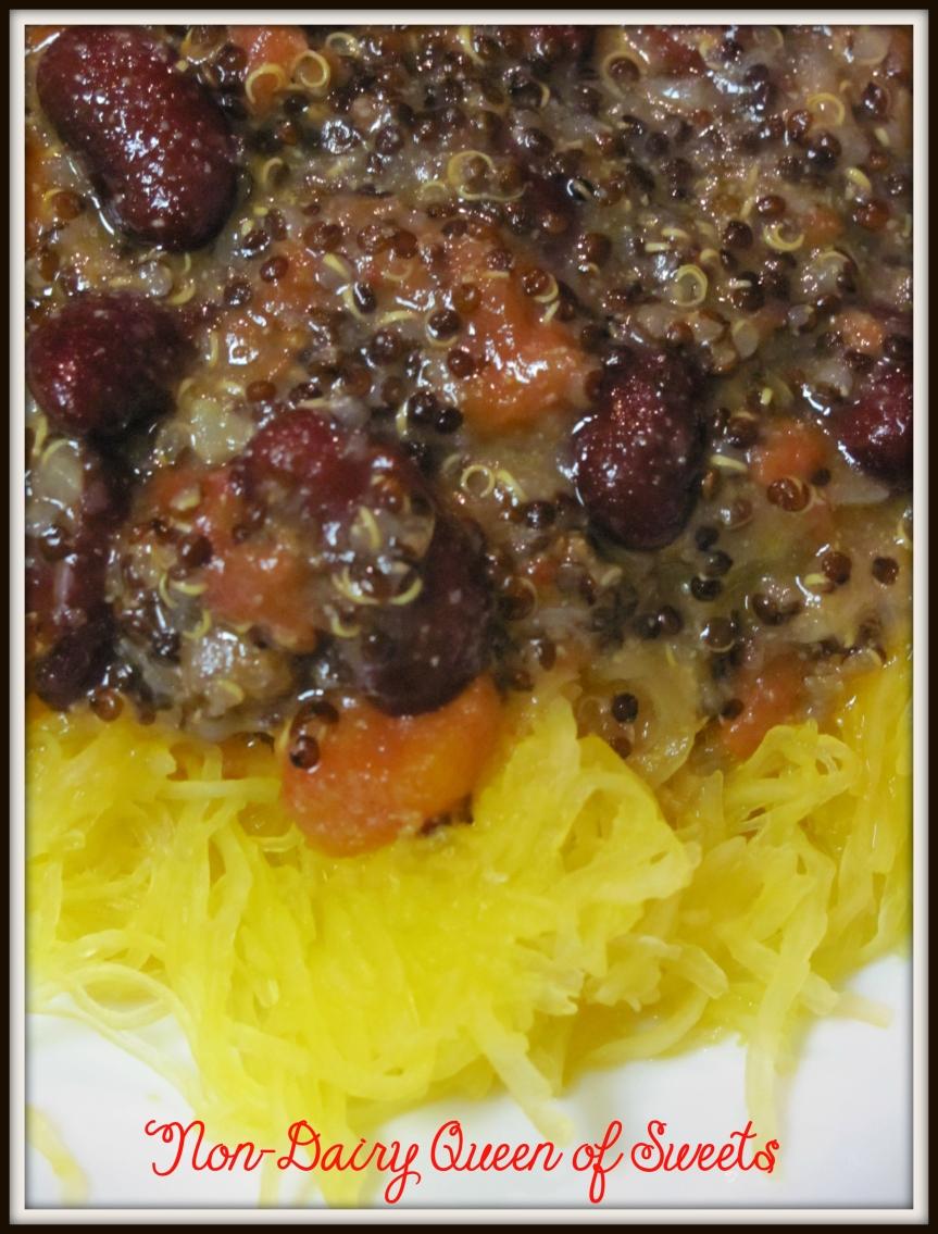 Spaghetti Squash with QuinoaSauce