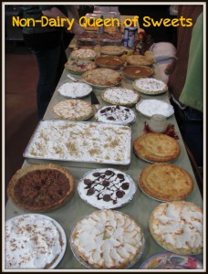 A picture of the pie/dessert table (partial ~ I couldn't get it all in) from a few years ago (2012, I think)