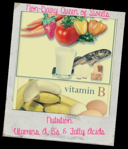 Vitamin A, B's (B1, B2, B3, B5, B6, B9 & B12) & FattyAcids