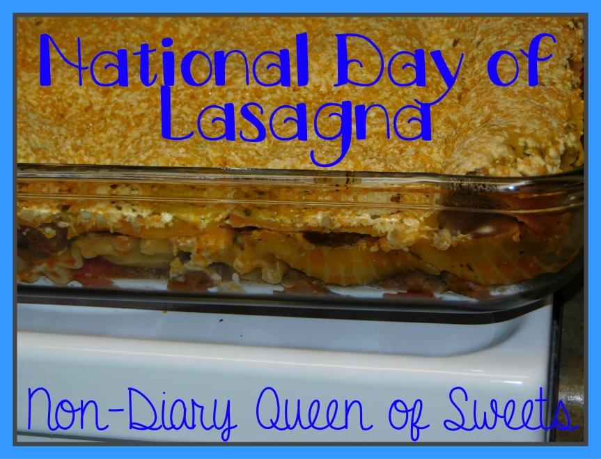 National Day of Lasagna – July29